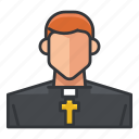 avatar, man, priest, profile, religion, religious, user icon