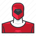 avatar, power, profile, ranger, red, user icon