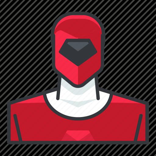 avatar, power, profile, ranger, red, user icon