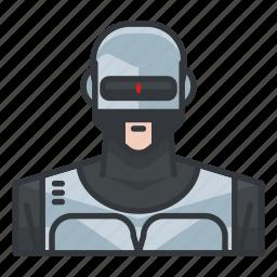 avatar, profile, robocop, robot, user icon
