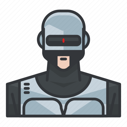 avatar, profile, robocop, robot, user icon