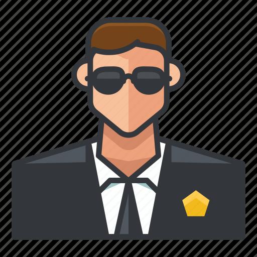 avatar, man, profile, secret, service, user icon