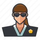 avatar, profile, secret, service, user, woman icon