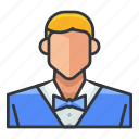 avatar, male, man, profile, user, waiter icon