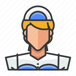 avatar, female, profile, user, waiter, woman icon