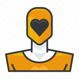 avatar, power, profile, ranger, user, yellow icon