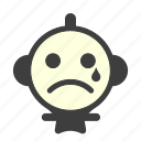 bad, cry, crying, sad, sad face, unhappy icon