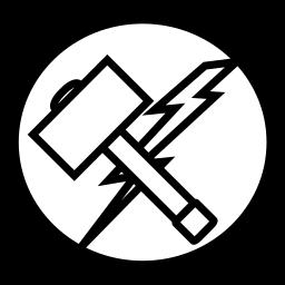avangers, hammer, marvel, thor icon