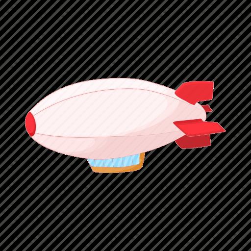 air, airship, balloon, cartoon, dirigible, transportation, travel icon