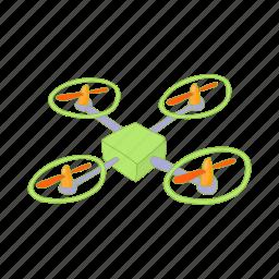 aerial, aircraft, cartoon, control, quadcopter, vehicle icon