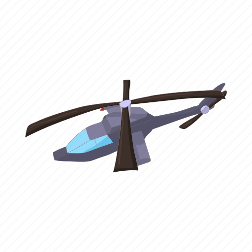 aircraft, army, cartoon, helicopter, military, transportation icon