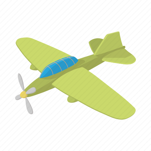 aircraft, airplane, cartoon, fighter, green, jet, military icon