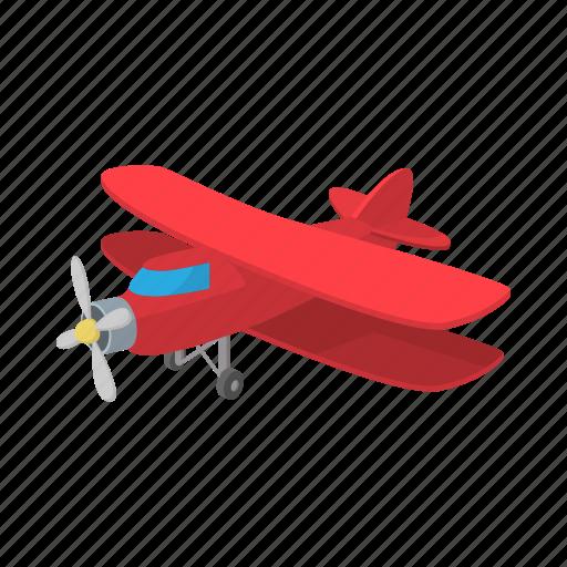 aircraft, aviation, biplane, cartoon, old, plane, propeller icon