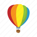 aerostat, air, balloon, cartoon, flight, sky, travel icon