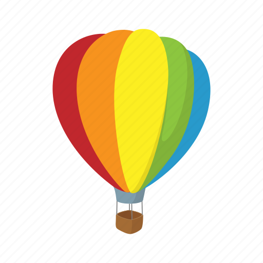 aerostat, air, balloon, cartoon, flight, sky, travel icon