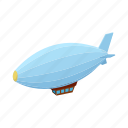 air, airship, balloon, cartoon, dirigible, transportation, travel icon