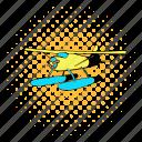 aircraft, airplane, aviation, comics, flight, hydroplane, plane icon