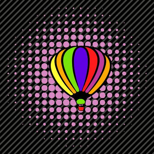 adventure, aerostat, air, balloon, flight, sky, travel icon
