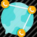 communication, globe, connection, network, world