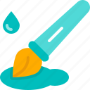 graphic design, creative, ink pen, inking, coloring, brush, tool icon