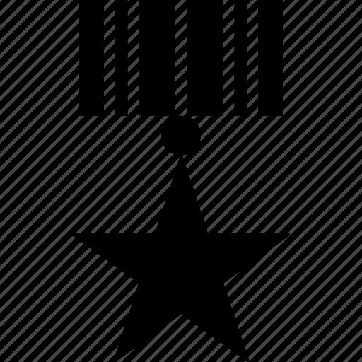 achievement, award, celebration, honor, medal, success, winner icon