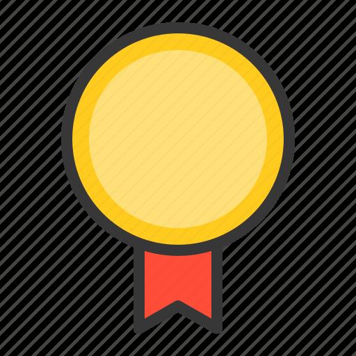 award, badge, champion, medal, sign, winner icon