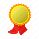 award, cartoon, competition, gold, place, ribbon, winner icon
