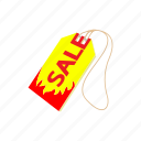 cartoon, discount, price, promotion, retail, sale, tag icon