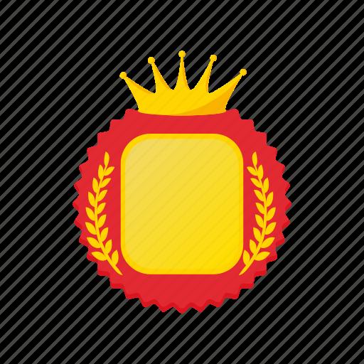 award, cartoon, crown, laurel, rosette, success, wreath icon