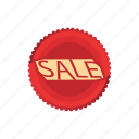 badge, cartoon, circle, discount, retail, sale, shop icon