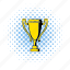 comics, cup, goblet, gold, golden, halftone, trophy icon