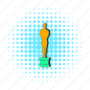 award, ceremony, comics, gold, halftone, man, statue icon