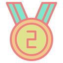 achievement, award, champ, medal, success, trophy, winner icon