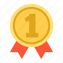 award, badge, champion, first, trophy, winner icon