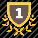 award, champion, gold, shield, trophy, winner icon