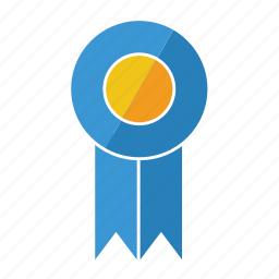 award, blue, first, medal, prize, ribbon, rosette icon