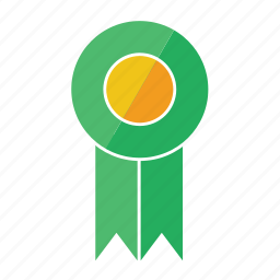 award, fifth, green, medal, prize, ribbon, rosette icon