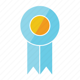 award, blue, eleventh, light, prize, ribbon, rosette icon