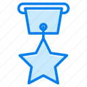 achievement, award, badge, medal, star icon