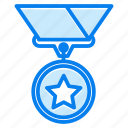 achievement, badge, medal, prize, winner icon