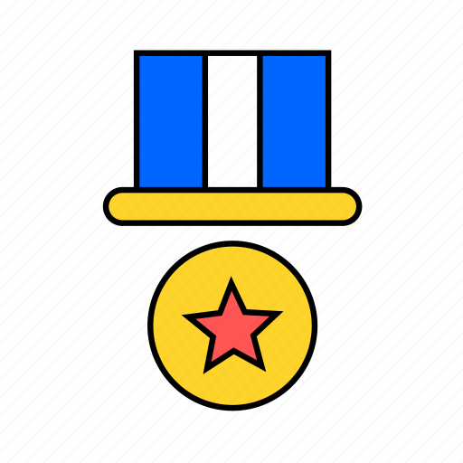 badge, banner, medal icon