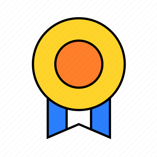 badge, gold, medal, prize icon