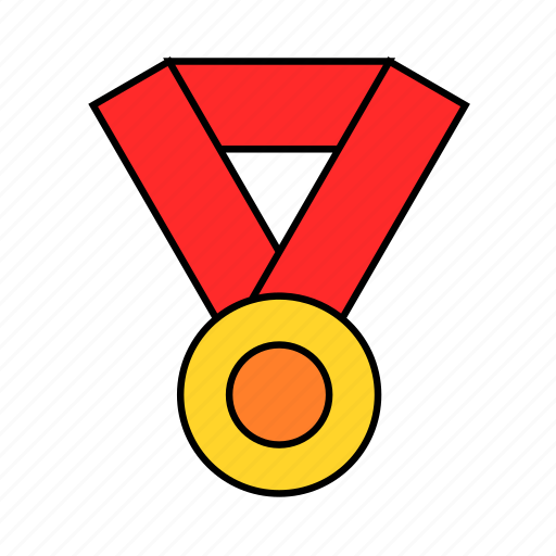award, circle, gold, medal, round, win icon