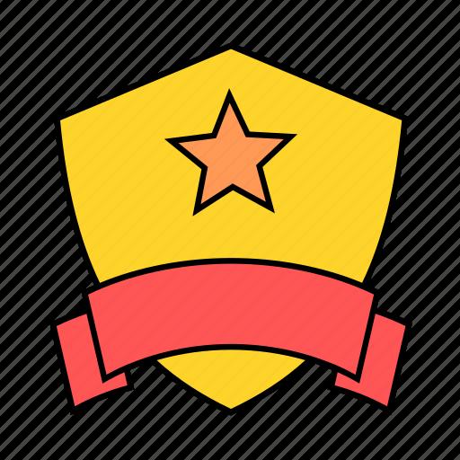 award, banner, prize, shield, win icon