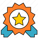 badge, banner, star icon