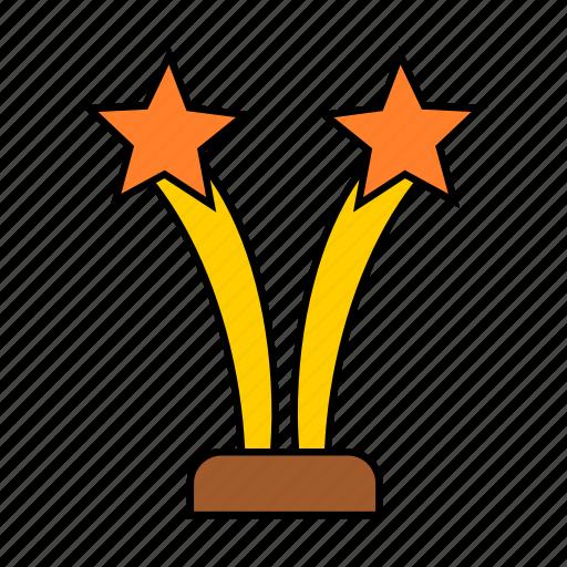 award, prize, star, two icon