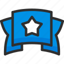 achievement, award, ribbon, star, trophy, win icon