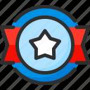 award, badge, ribbon, star, trophy, win
