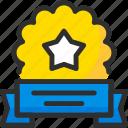 achievement, award, prize, ribbon, star, trophy, win icon