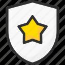 achievement, award, shield, star, trophy, win